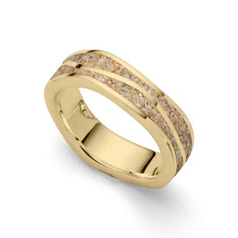 Ring Wellen vergoldet