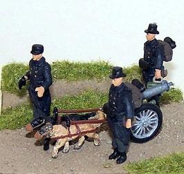 Mitrailleuse Maxim+servants belges +attelage de chiens (R72444)