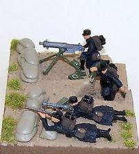 Mitrailleuse Maxim+FM+servants belges+protection (R72445)