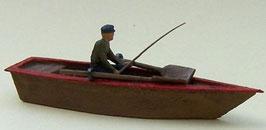 Pêcheur à la ligne dans sa barque (R72509)
