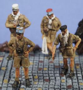 Officiers français à Bir Hakeim (x4) (R72428)