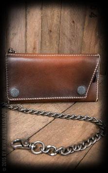 """Leder Wallet """"Kamm"""" - sunburst handmade"""