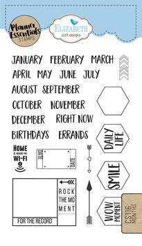 Months / Maanden - Clear Stamps