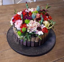 Merci seizoensbloemen taart