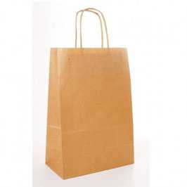 Shopper Kraft Avana cm. 20+10x29 - 250 pezzi