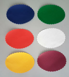Coprivassoi Ovali carta cm. 15x21 - 500 pezzi
