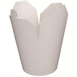 Contenitore WOK cartoncino politenato Bianco  - 780 ml. - 450 pezzi