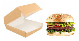 Scatola Hamburger AVANA cm. 14x12.5x8  - MEDIO 50 pezzi