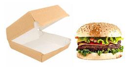 Scatola Hamburger AVANA cm. 14x12.5x5.5  - SMALL 50 pezzi