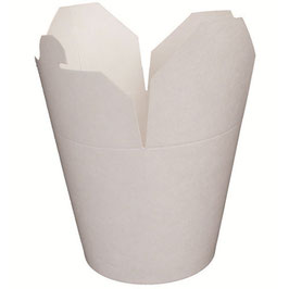 Contenitore WOK cartoncino politenato Bianco  - 960 ml. - 450 pezzi