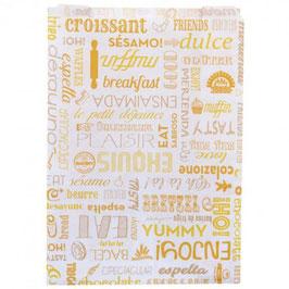 Sacchetto Croissant bianco cm. 19+8x26 - 500 pezzi