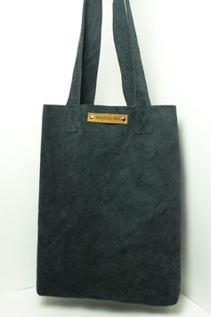 Tote bag - suede zwart
