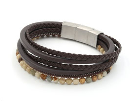 """Bracelet en cuir et acier """"James"""""""