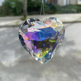 Attrape-soleil coeur en cristal