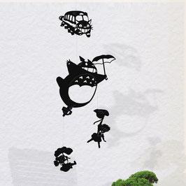 Mobile silhouettes Totoro petit modèle