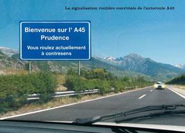 """Carte """"Bienvenue sur l'A45"""""""