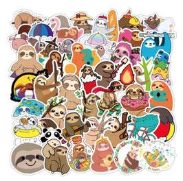 "50 stickers ""Paresseux"""