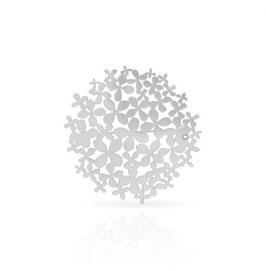 Broche hortensia argent