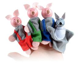 """Marionnettes à doigts """"3 petits cochons"""""""
