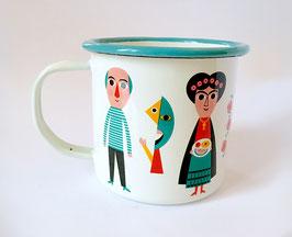 "Mug émaillé ""Artistes"""