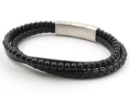 """Bracelet en cuir et acier """"Zayn"""""""