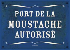 """Carte """"Moustache autorisée"""""""