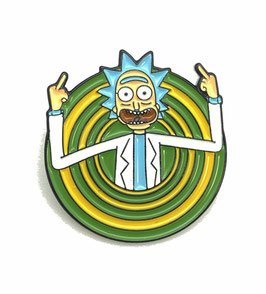 "Pin's émaillé ""Rick et Morty"" tourbillon"