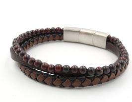 """Bracelet en cuir et acier """"Cheyenne"""""""