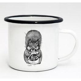 Mug émaillé animaux