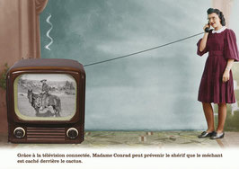 """Carte """"La télévision connectée"""""""