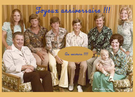 """Carte """"Famille imprimée"""""""