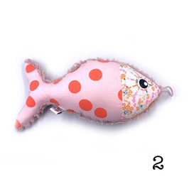Coussin poisson artisanal