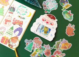 """Stickers Noël """"papier de soie"""""""