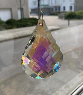 Attrape-soleil goutte festonnée en cristal