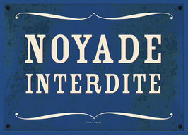 "Carte ""Noyade interdite"""