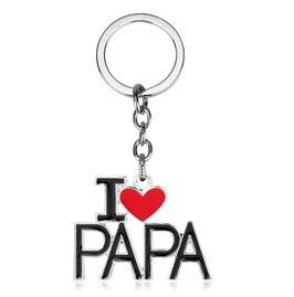 """Porte-clé """"I love Papa"""""""