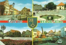 Ansichtskarte - Stade - Gruß aus Stade