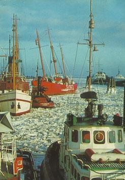 Ansichtskarte - Winter in Cuxhaven