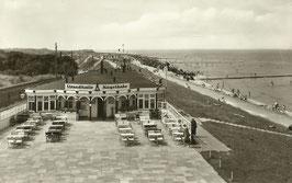 Ansichtskarte - Cuxhaven - Strandhalle Kugelbake