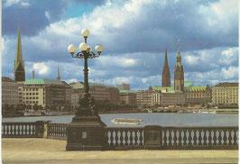 Ansichtskarte - Hamburg Binnenalster