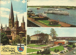 Ansichtskarte - Grüße aus Bonn am Rhein