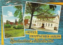 Ansichtskarte - Altenbruch - Hotel Deutsches Haus
