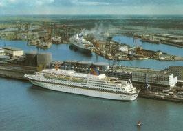 Ansichtskarte -  Bremerhaven -  Columbuskaje -  MS Europa