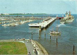 Ansichtskarte - Cuxhaven - Ro-Ro Anleger - Neue Seebäderbrücke - Neuer Jachthafen