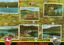 Ansichtskarte - Talsperren im Harz