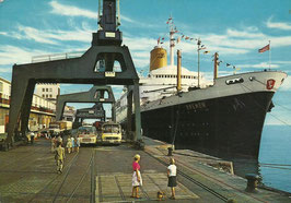 Ansichtskarte - T.S. Bremen - Bremerhaven - Columbuskaje