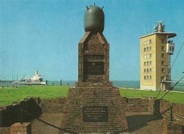 Ansichtskarte - Cuxhaven -Minensucherdenkmal