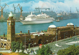 Ansichtskarte - Hamburg Landungsbrücken