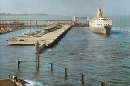 Ansichtskarte - Cuxhaven - Ro-Ro Anleger - Neue Seebäderbrücke