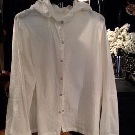 Chemise à Capuche Coton Ecru